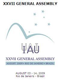 Poster da Assembleia Geral da IAU no Rio de Janeiro.