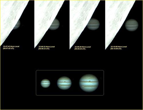 Ocultação de Júpiter pela Lua